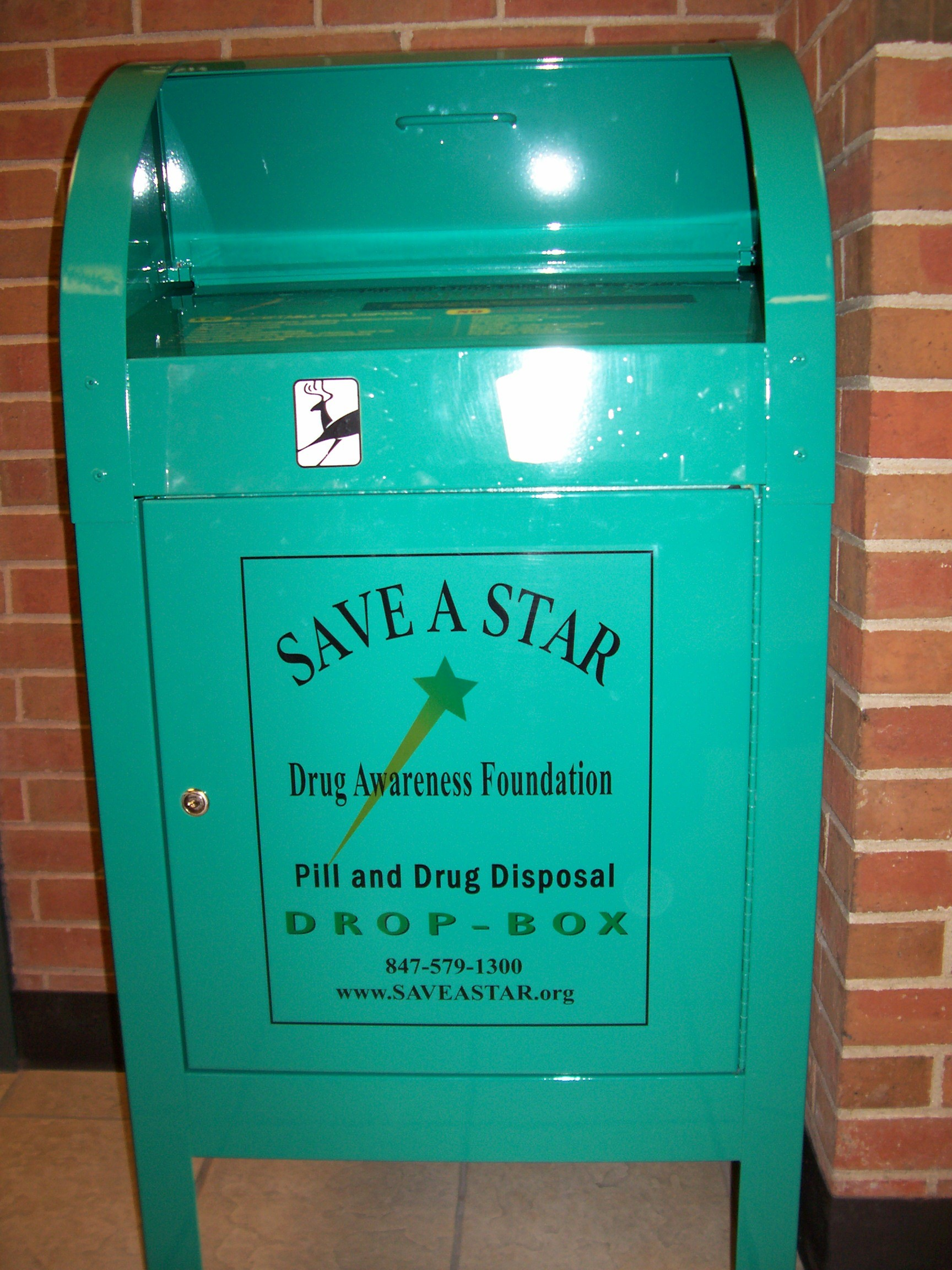 """Save a Star Drug Awareness Foundation - Pill and Drug disposal drop box"""
