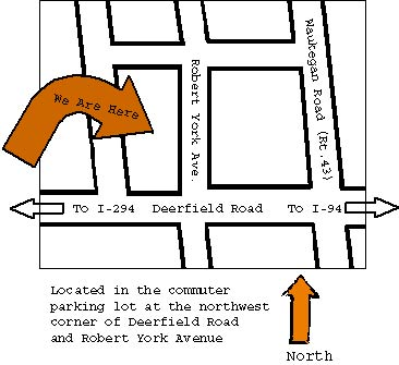 Map of farmers market with text and arrows
